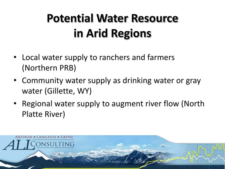 Potential Water Resource