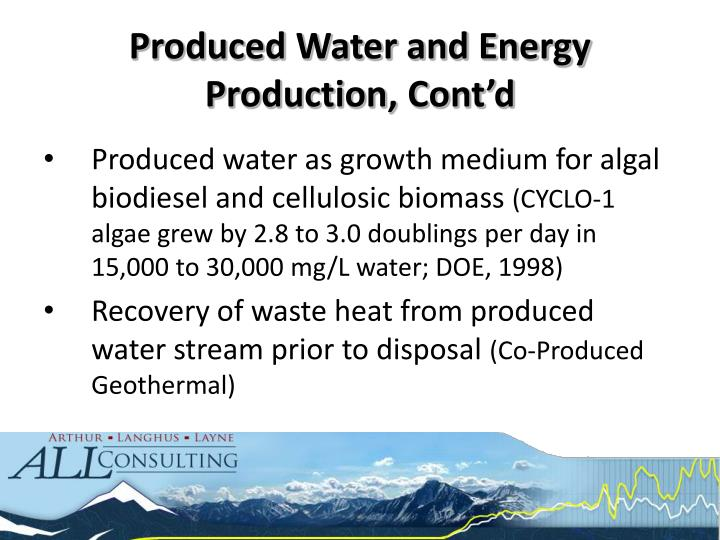 Produced water as growth medium for algal biodiesel and cellulosic biomass