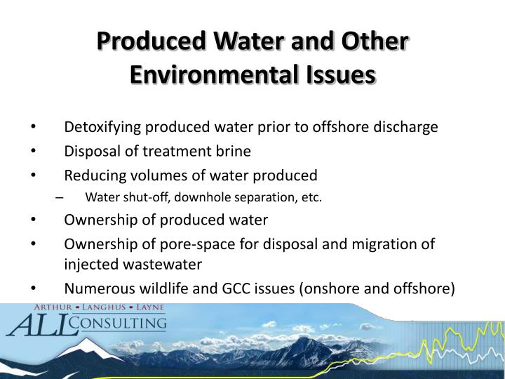 Produced Water and Other Environmental Issues