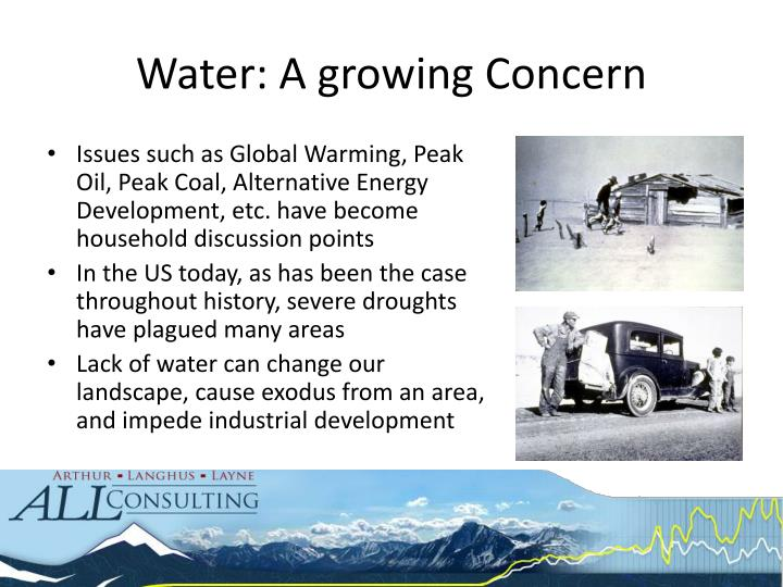 Water: A growing Concern