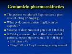 gentamicin pharmacokinetics