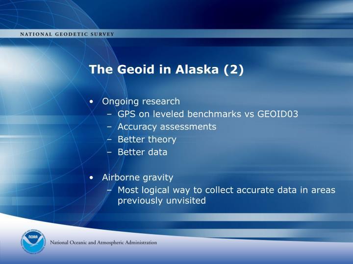 The Geoid in Alaska (2)