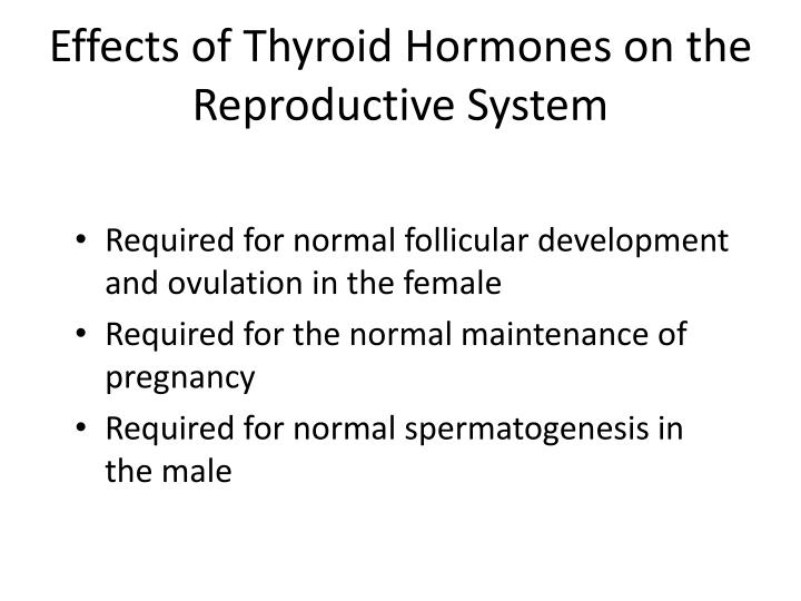Effects of Thyroid Hormones on the Reproductive System