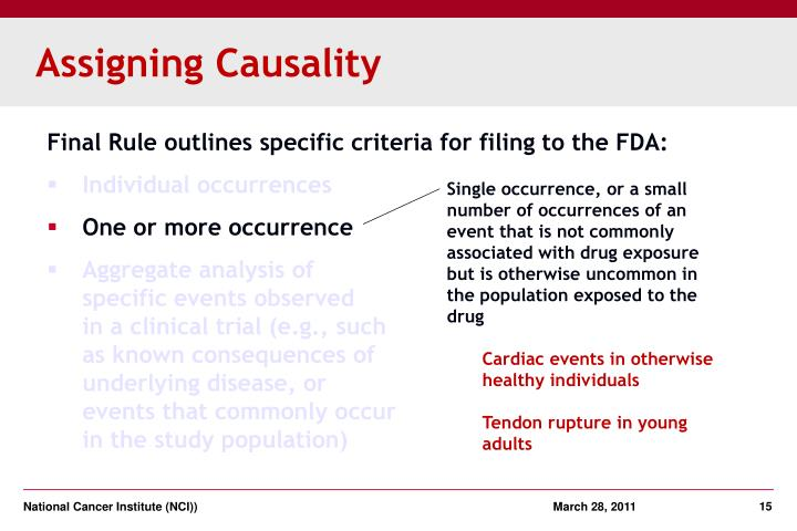 Assigning Causality