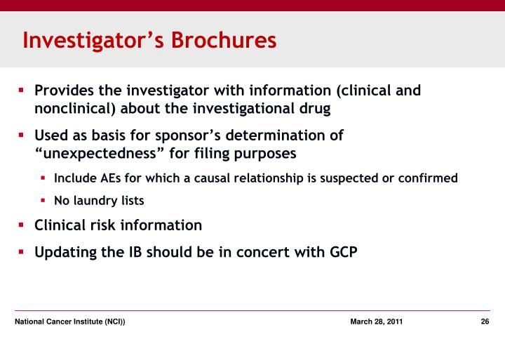 Investigator's Brochures