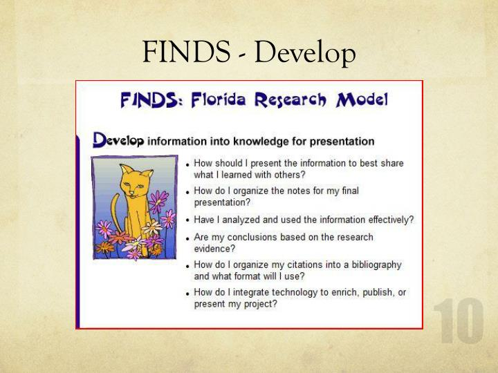 FINDS - Develop