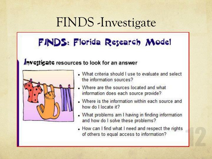 FINDS -Investigate