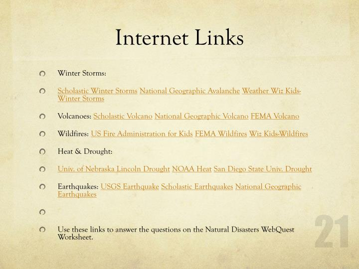 Internet Links