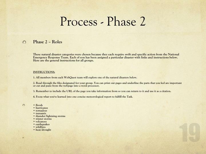 Process - Phase 2