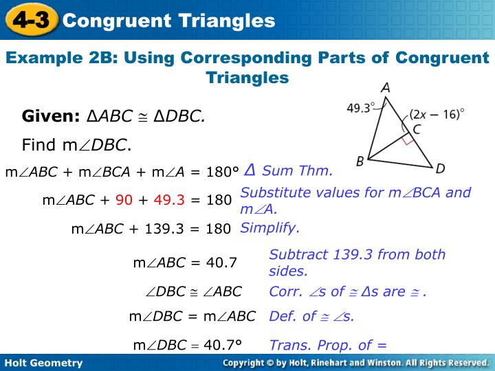 Example 2B: Using Corresponding Parts of Congruent Triangles