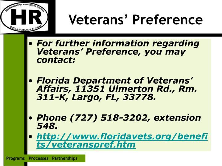 Veterans' Preference
