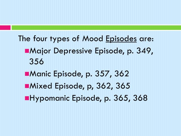 The four types of Mood