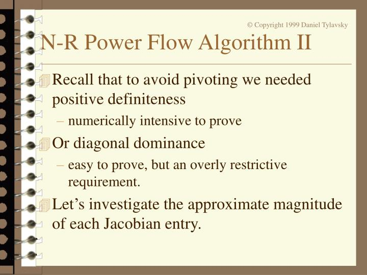 Recall that to avoid pivoting we needed positive definiteness