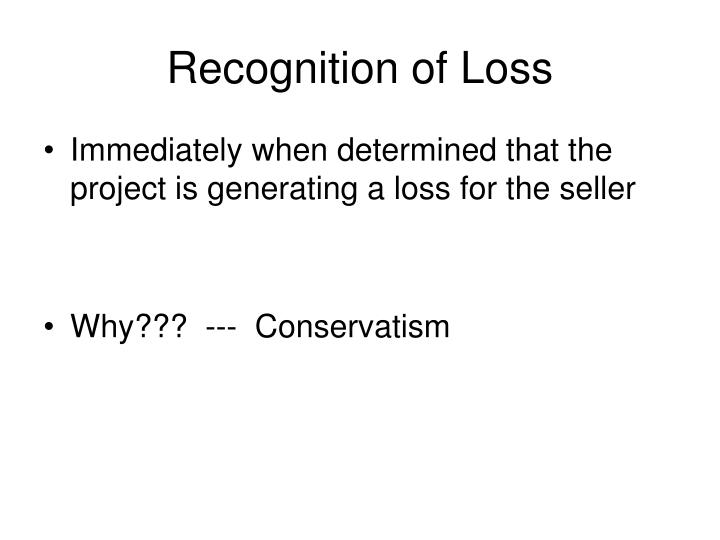 Recognition of Loss