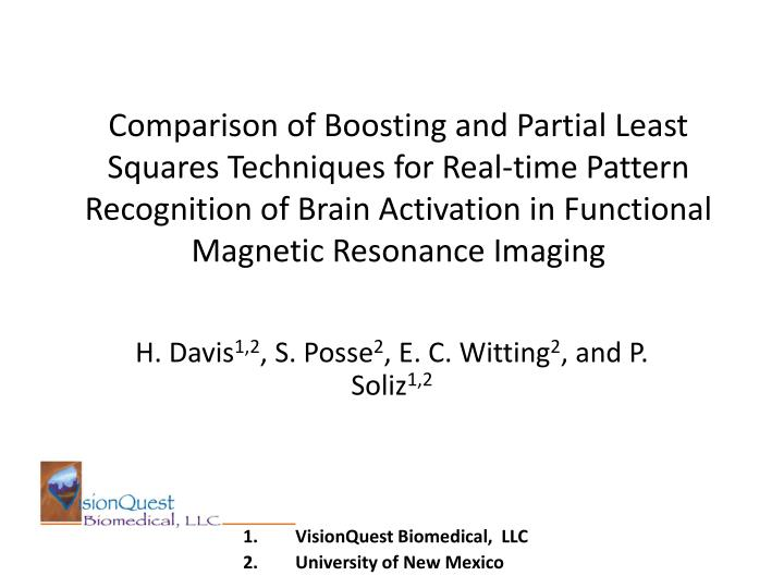 Comparison of Boosting and Partial Least Squares Techniques for Real-time Pattern Recognition of Brain Activation in Functional Magnetic Resonance Imaging