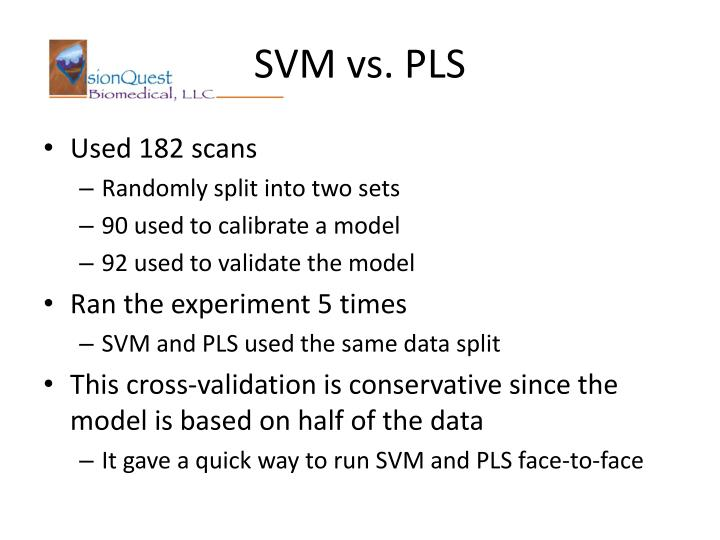 SVM vs. PLS
