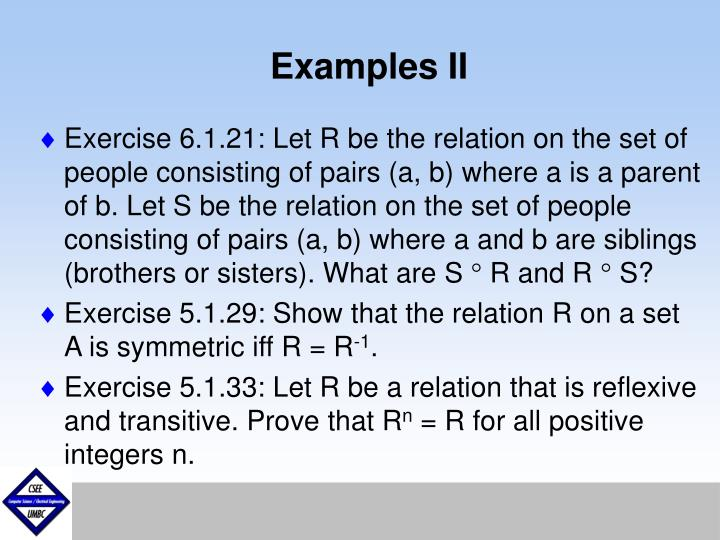 Examples II