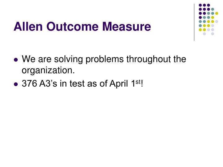 Allen Outcome Measure