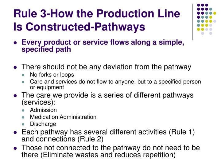 Rule 3-How the Production Line Is Constructed-Pathways