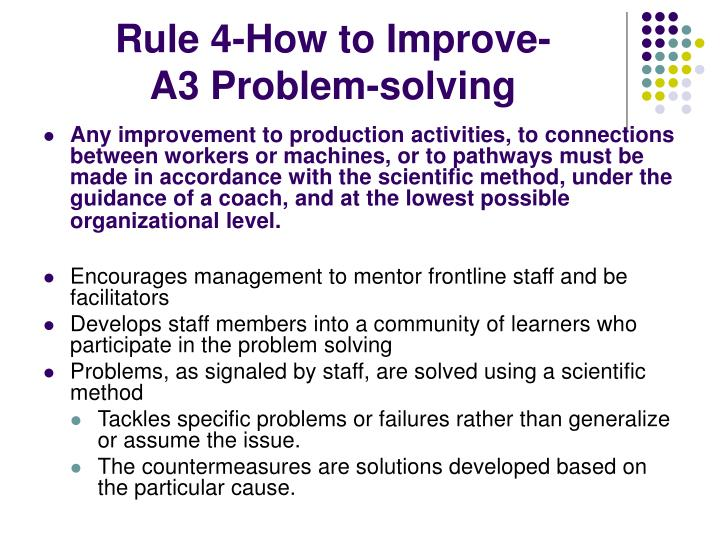 Rule 4-How to Improve-