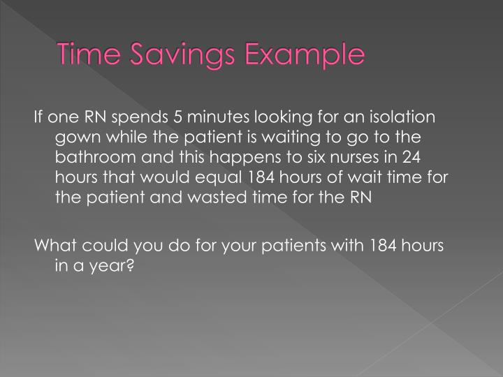 Time Savings Example