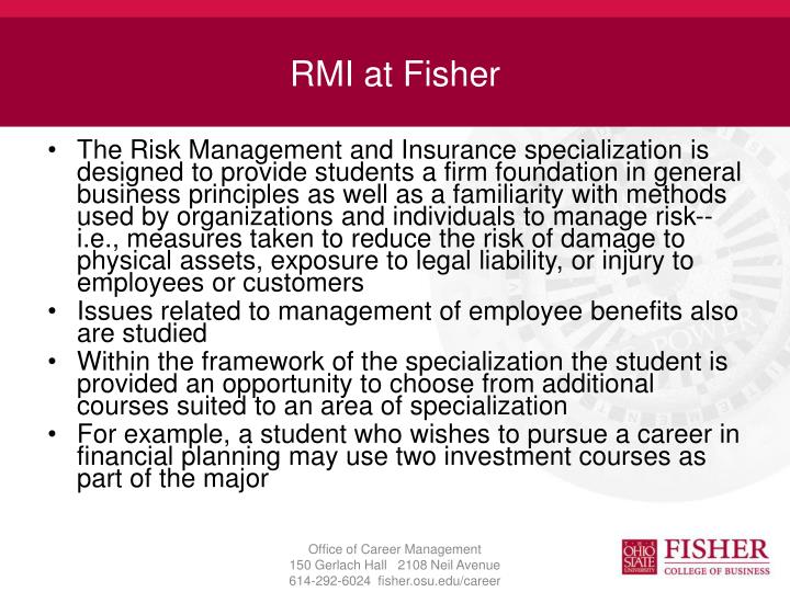 RMI at Fisher
