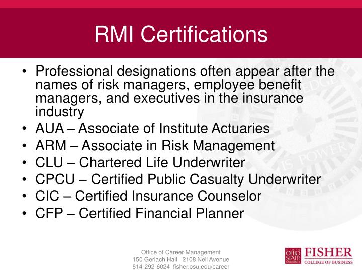 RMI Certifications