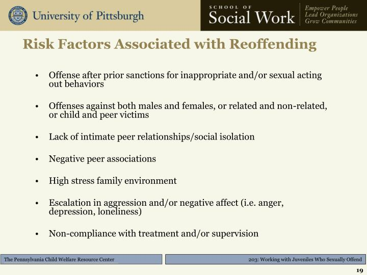 Risk Factors Associated with Reoffending