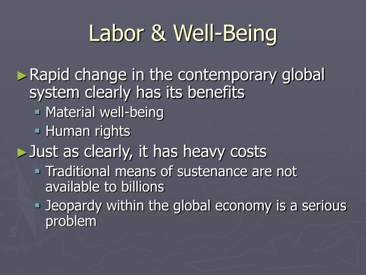 Labor well being