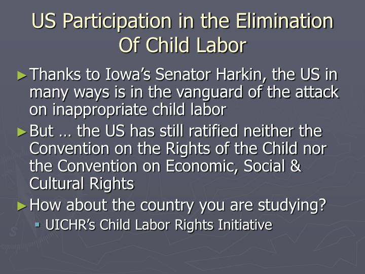 US Participation in the Elimination