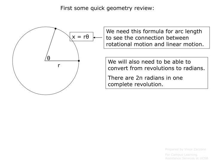 First some quick geometry review:
