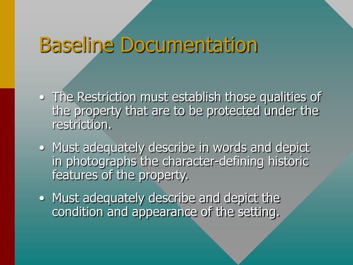 Baseline Documentation