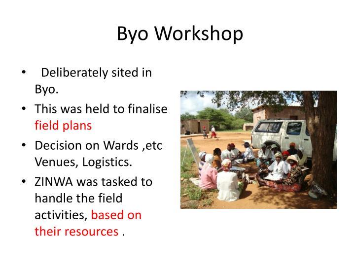 Byo Workshop