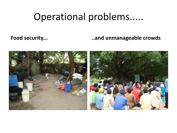 Operational problems.....
