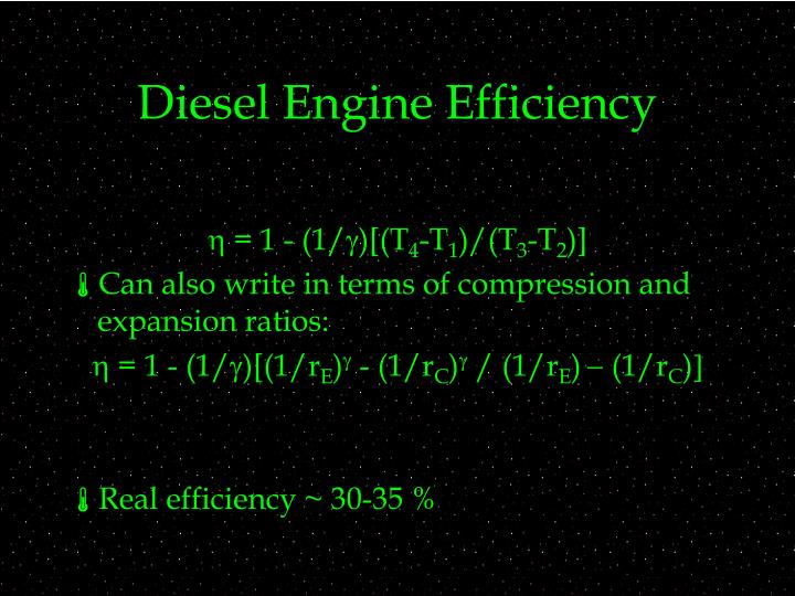 Diesel Engine Efficiency