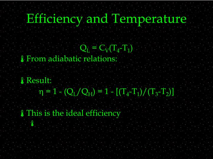 Efficiency and Temperature