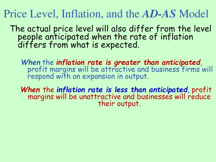 Price Level, Inflation, and the