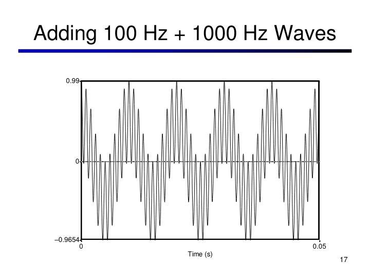 Adding 100 Hz + 1000 Hz Waves