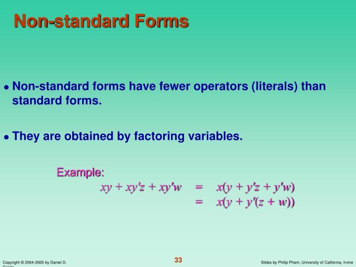 Non-standard Forms