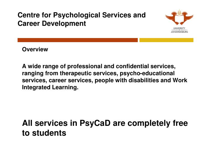 Centre for Psychological Services and Career Development