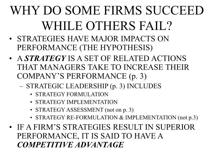 Why do some firms succeed while others fail