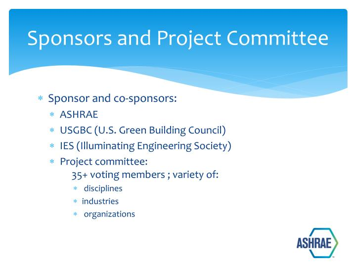 Sponsors and Project Committee