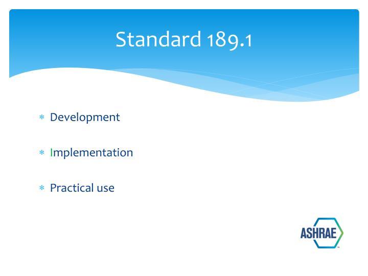 Standard 189.1