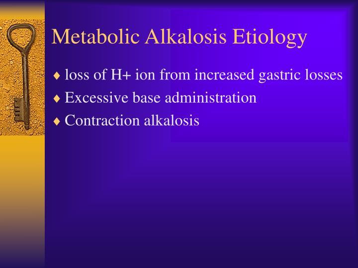 Metabolic Alkalosis Etiology