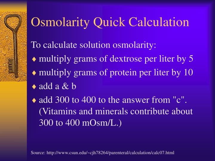 Osmolarity Quick Calculation