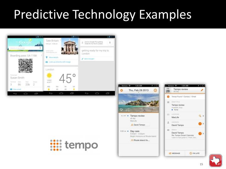 Predictive Technology Examples