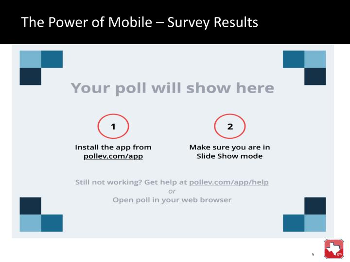 The Power of Mobile – Survey