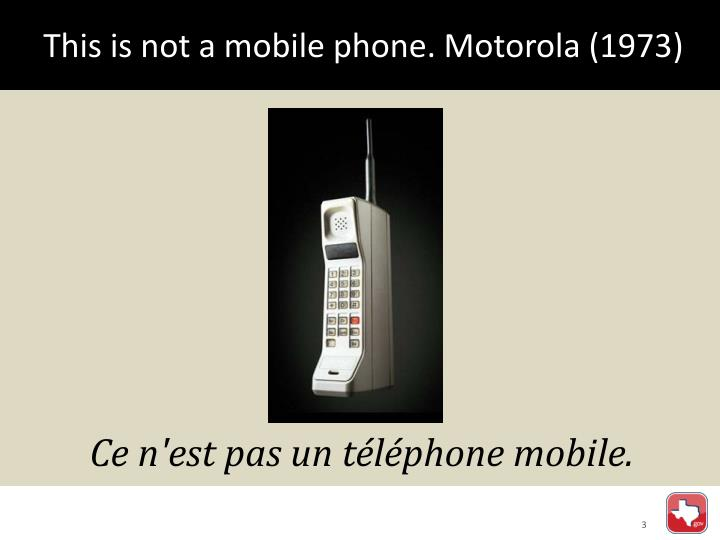 This is not a mobile phone motorola 1973