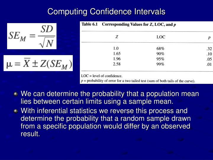 Computing Confidence Intervals