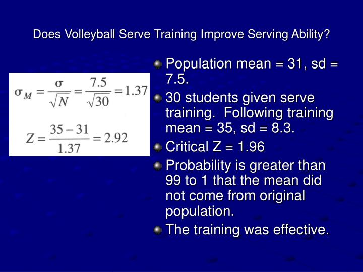 Does Volleyball Serve Training Improve Serving Ability?